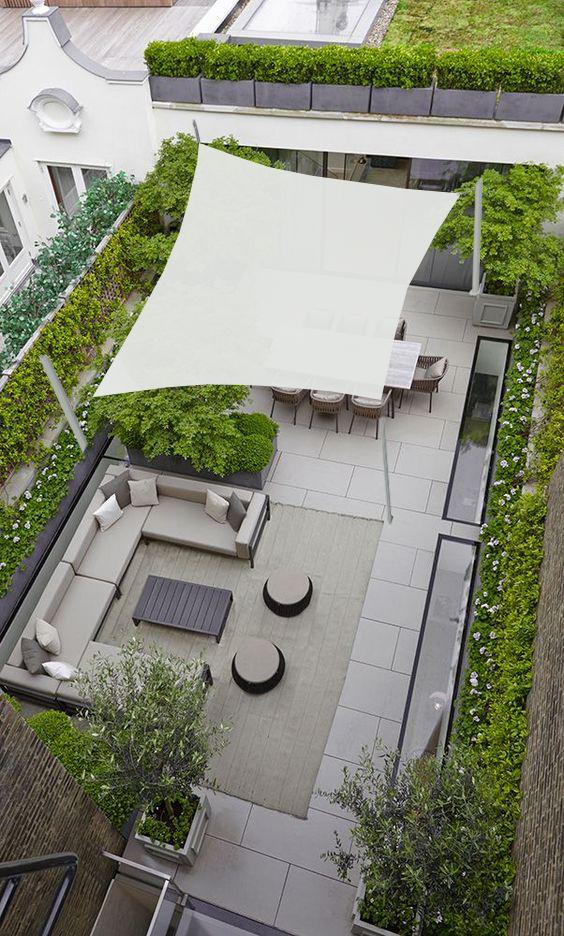 velas sombra terrazas de Maanta